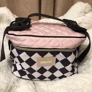 Betsey Johnson makeup bag, pockets inside